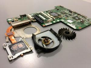 laptop HP G72-a30EW wymiana wentylatora