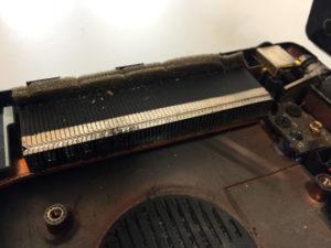 brudny układ chłodzenia radiator
